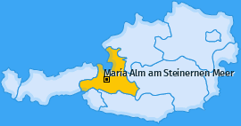 Karte von Maria Alm am Steinernen Meer