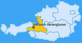 Karte von Saalbach-Hinterglemm