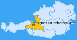 Karte Deuting Saalfelden am Steinernen Meer