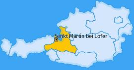 Karte von Sankt Martin bei Lofer