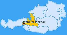Karte von Wald im Pinzgau