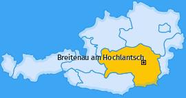 Karte von Breitenau am Hochlantsch