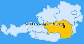 Karte von Sankt Lorenzen im Mürztal