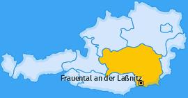 Karte von Frauental an der Laßnitz
