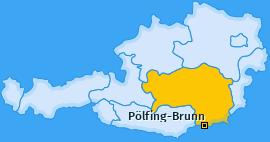 Karte von Pölfing-Brunn