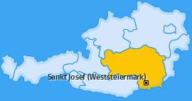 Karte von Sankt Josef (Weststeiermark)