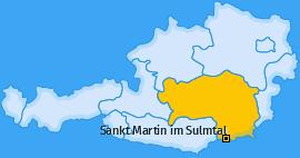 Karte von Sankt Martin im Sulmtal