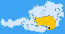 Karte Wald in der Weststeiermark Stainz