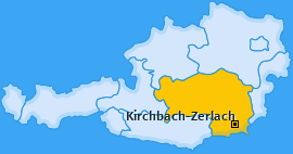 Karte von Kirchbach in der Steiermark