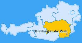 Karte von Kirchberg an der Raab