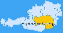 Karte von Ottendorf an der Rittschein