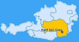 Karte von Hart bei Graz