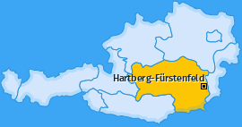 Bezirk Hartberg-Fürstenfeld Landkarte