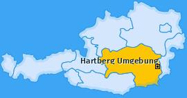 Karte von Hartberg Umgebung