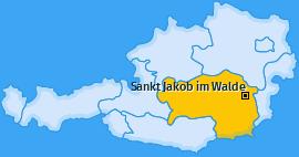 Karte von Sankt Jakob im Walde