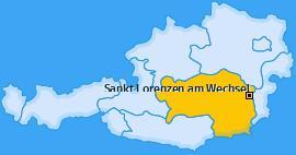 Karte von Sankt Lorenzen am Wechsel