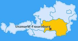 Karte von Unzmarkt-Frauenburg