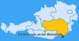 Karte von Ehrenhausen an der Weinstraße