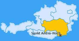 Karte von Sankt Andrä-Höch