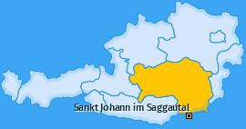 Karte von Sankt Johann im Saggautal
