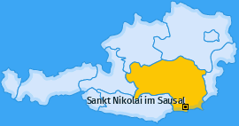 Karte von Sankt Nikolai im Sausal