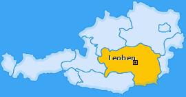 Bezirk Leoben Landkarte