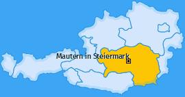 Karte von Mautern in Steiermark