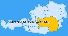 Karte von Sankt Michael in Obersteiermark