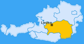Bezirk Liezen Landkarte