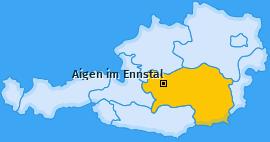 Karte von Aigen im Ennstal