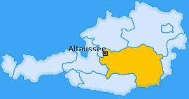 Karte von Altaussee