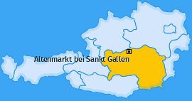 Karte von Altenmarkt bei Sankt Gallen