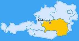 Karte von Ardning