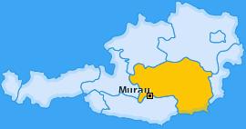 Bezirk Murau Landkarte