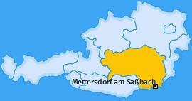 Karte von Mettersdorf am Saßbach