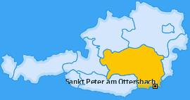 Karte von Sankt Peter am Ottersbach