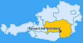 Karte von Kainach bei Voitsberg