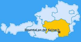 Karte von Rosental an der Kainach
