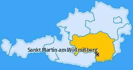 Karte von Sankt Martin am Wöllmißberg