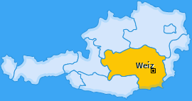 Bezirk Weiz Landkarte