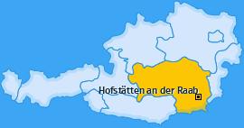 Karte von Hofstätten an der Raab