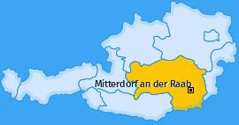 Karte von Mitterdorf an der Raab