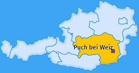 Karte von Puch bei Weiz