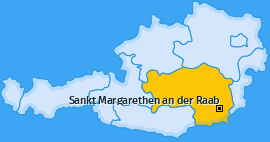 Karte von Sankt Margarethen an der Raab