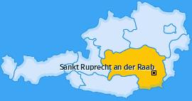 Karte von Sankt Ruprecht an der Raab