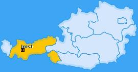 Bezirk Imst Landkarte