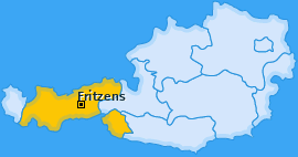 Karte von Fritzens
