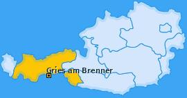 Karte von Gries am Brenner