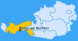 Karte von Matrei am Brenner