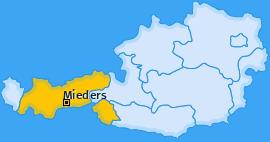 Karte von Mieders